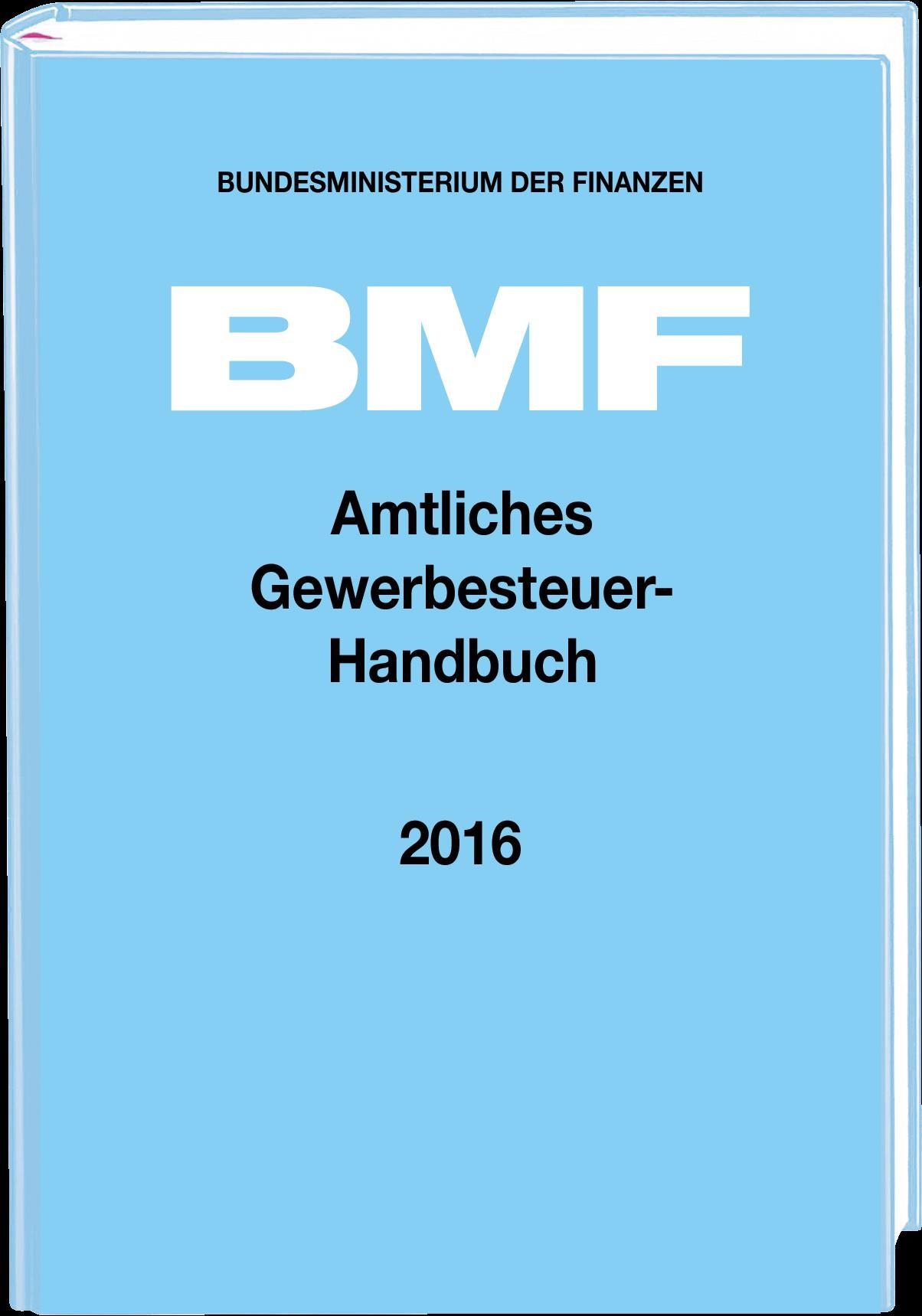 Amtliches Gewerbesteuer-Handbuch 2016   Bundesministerium der Finanzen, 2017   Buch (Cover)