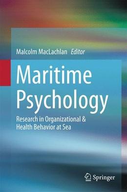 Abbildung von Maclachlan | Maritime Psychology | 1. Auflage | 2017 | beck-shop.de