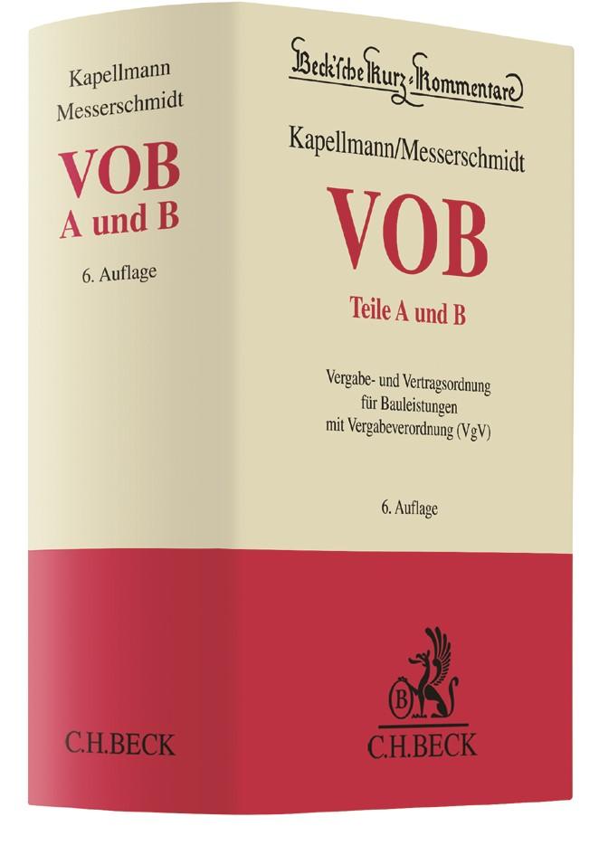 VOB Teile A und B | Kapellmann / Messerschmidt | 6. Auflage, 2017 | Buch (Cover)