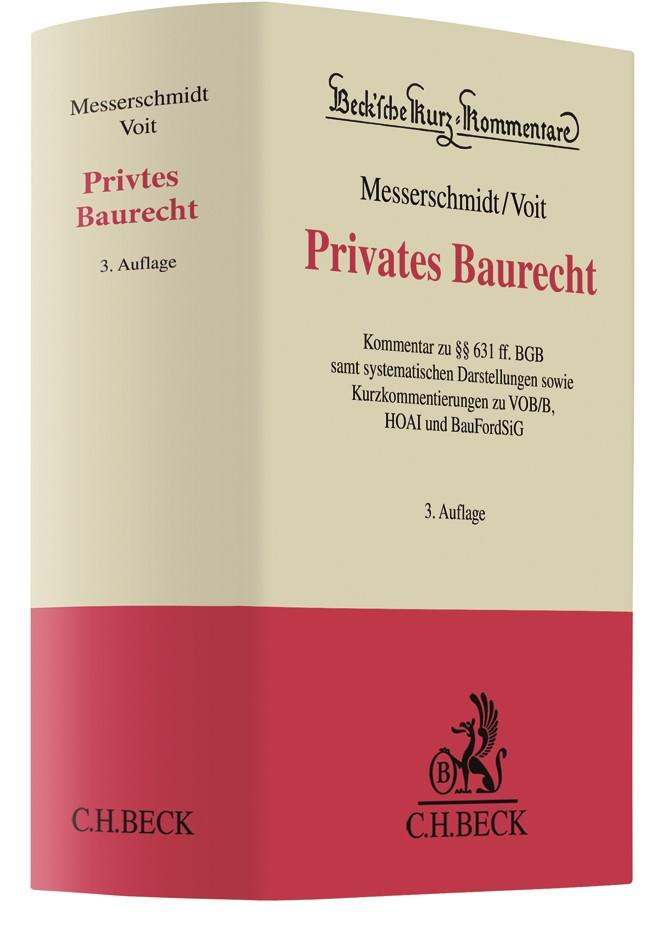 Privates Baurecht | Messerschmidt / Voit | 3. Auflage, 2018 | Buch (Cover)