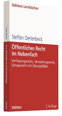 Abbildung von Detterbeck | Öffentliches Recht im Nebenfach | 5. Auflage | 2017 | beck-shop.de