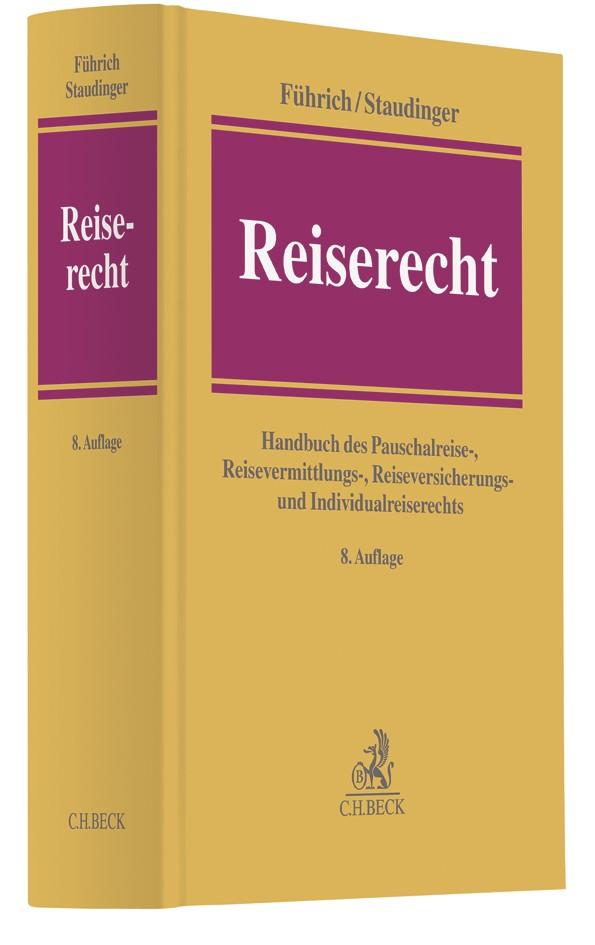 Reiserecht | Führich / Staudinger | 8. Auflage, 2018 | Buch (Cover)