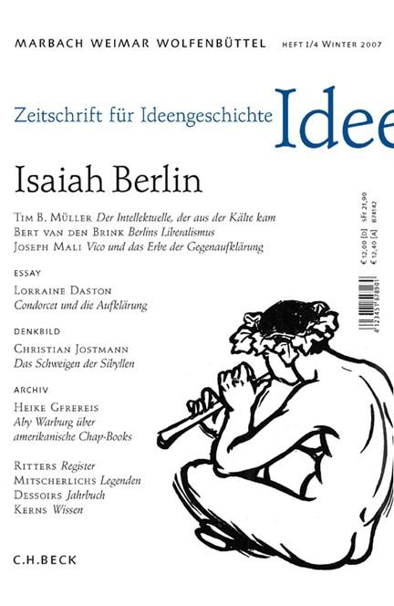 Cover: , Zeitschrift für Ideengeschichte: ZIG (2007) Heft 4: Isaiah Berlin