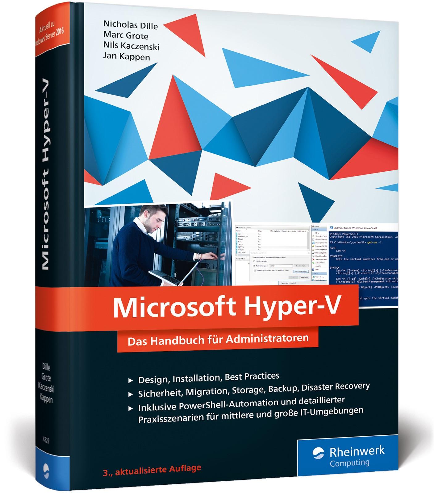 Microsoft Hyper-V   Kaczenski / Grote / Dille   3. Auflage, 2017   Buch (Cover)