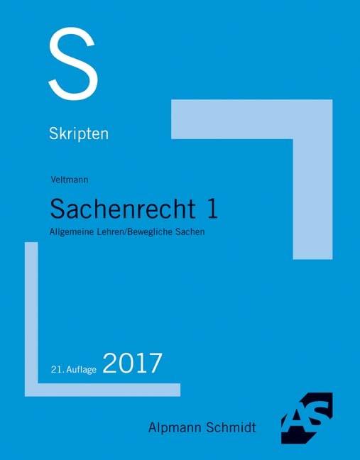 Skript Sachenrecht 1 | Veltmann | 21. Auflage, 2017 | Buch (Cover)
