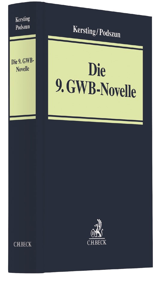 Die 9. GWB-Novelle | Kersting / Podszun | Buch (Cover)