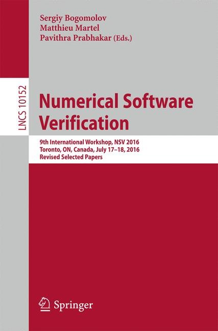 Abbildung von Bogomolov / Martel / Prabhakar | Numerical Software Verification | 2017