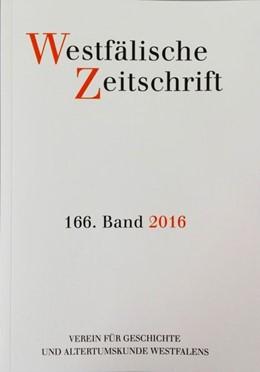 Abbildung von Westfälische Zeitschrift 166, Band 2016 | 2016 | Zeitschrift für Vaterländische...