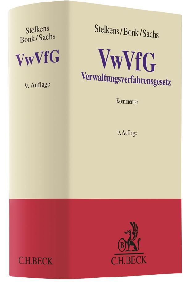 Verwaltungsverfahrensgesetz: VwVfG | Stelkens / Bonk / Sachs | 9. Auflage, 2017 | Buch (Cover)