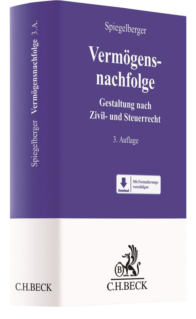 Vermögensnachfolge | Spiegelberger | 3. Auflage, 2018 | Buch (Cover)