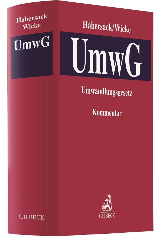 Umwandlungsgesetz: UmwG | Habersack / Wicke, 2018 | Buch (Cover)