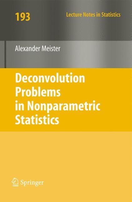 Abbildung von Meister | Deconvolution Problems in Nonparametric Statistics | 1st Edition. | 2009
