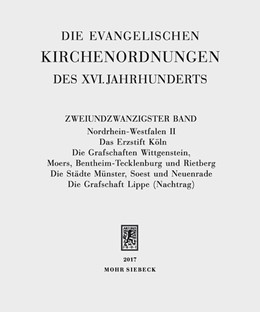 Abbildung von Wolgast / Sehling   Die evangelischen Kirchenordnungen des XVI. Jahrhunderts   2017   Zweiundzwanzigster Band: Nordr...