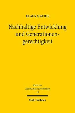 Abbildung von Mathis | Nachhaltige Entwicklung und Generationengerechtigkeit | 2017 | Eine interdisziplinäre Studie ... | 19