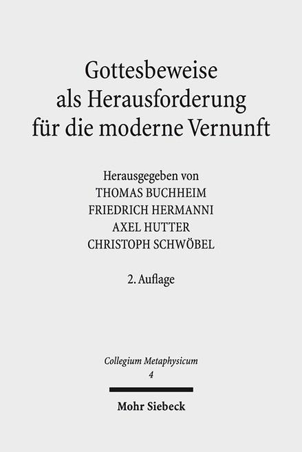 Gottesbeweise als Herausforderung für die moderne Vernunft | Buchheim / Hermanni / Hutter | 2. Auflage, 2017 (Cover)