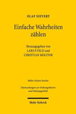 Abbildung von Sievert / Feld   Einfache Wahrheiten zählen   1. Auflage   2021   beck-shop.de