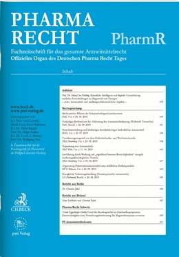 Abbildung von PharmR • Pharma Recht | 40. Auflage | 2020 | beck-shop.de