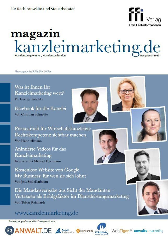 magazin kanzleimarketing.de | 3/2017 (Cover)