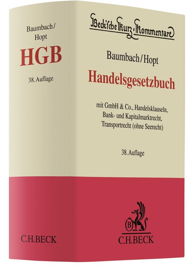 Handelsgesetzbuch: HGB | Baumbach / Hopt | 38. Auflage, 2018 | Buch (Cover)