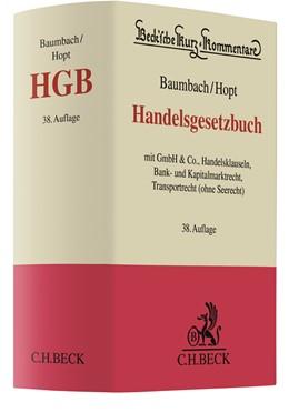 Abbildung von Baumbach / Hopt | Handelsgesetzbuch: HGB | 38., neubearbeitete Auflage | 2018 | mit GmbH & Co., Handelsklausel... | Band 9