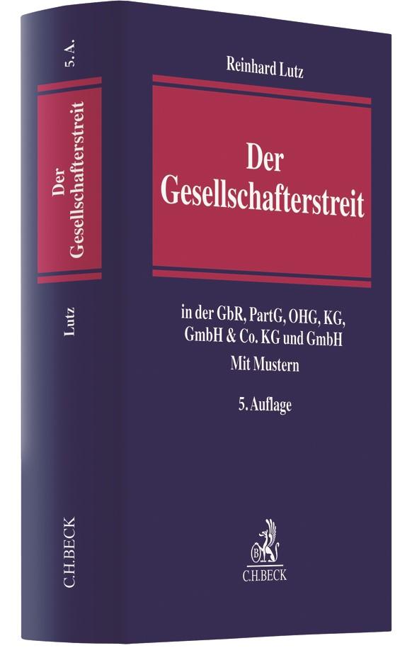 Der Gesellschafterstreit | Lutz | 5., erweiterte Auflage, 2017 | Buch (Cover)