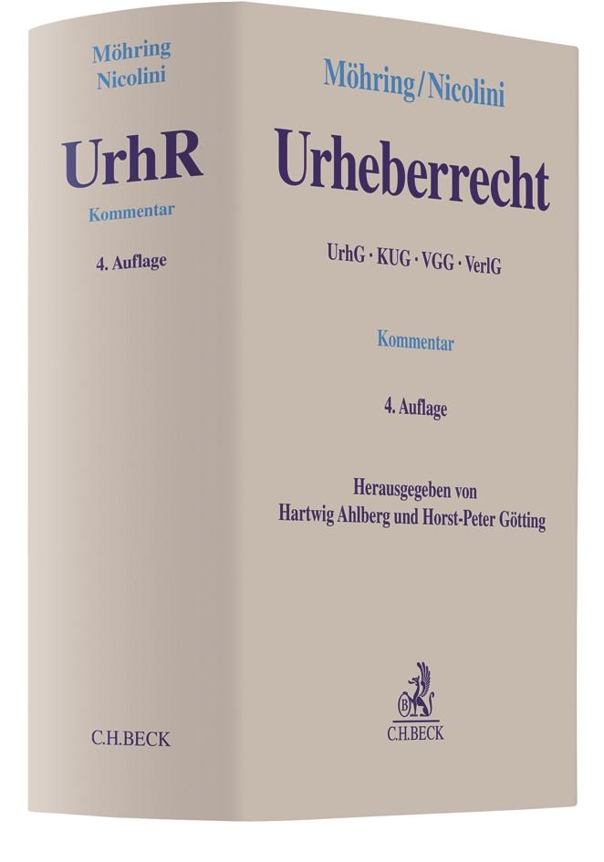 Urheberrecht | Möhring / Nicolini | 4. Auflage, 2018 | Buch (Cover)