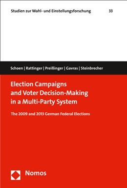 Abbildung von Schoen / Rattinger / Preißinger | Election Campaigns and Voter Decision-Making in a Multi-Party System | 2017 | The 2009 and 2013 German Feder... | 33