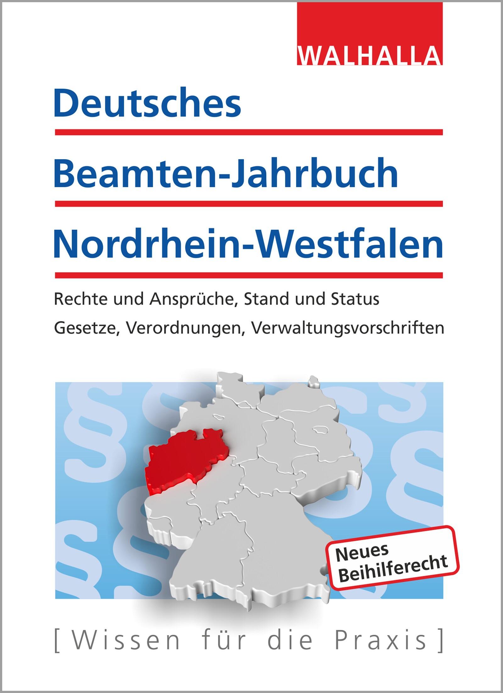 Deutsches Beamten-Jahrbuch Nordrhein-Westfalen Jahresband 2017 | Walhalla Fachredaktion | Buch (Cover)
