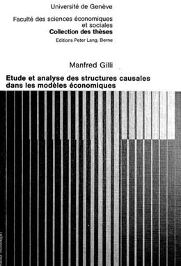 Abbildung von Gilli   Etude et analyse des structures causales dans les modèles économiques   1979