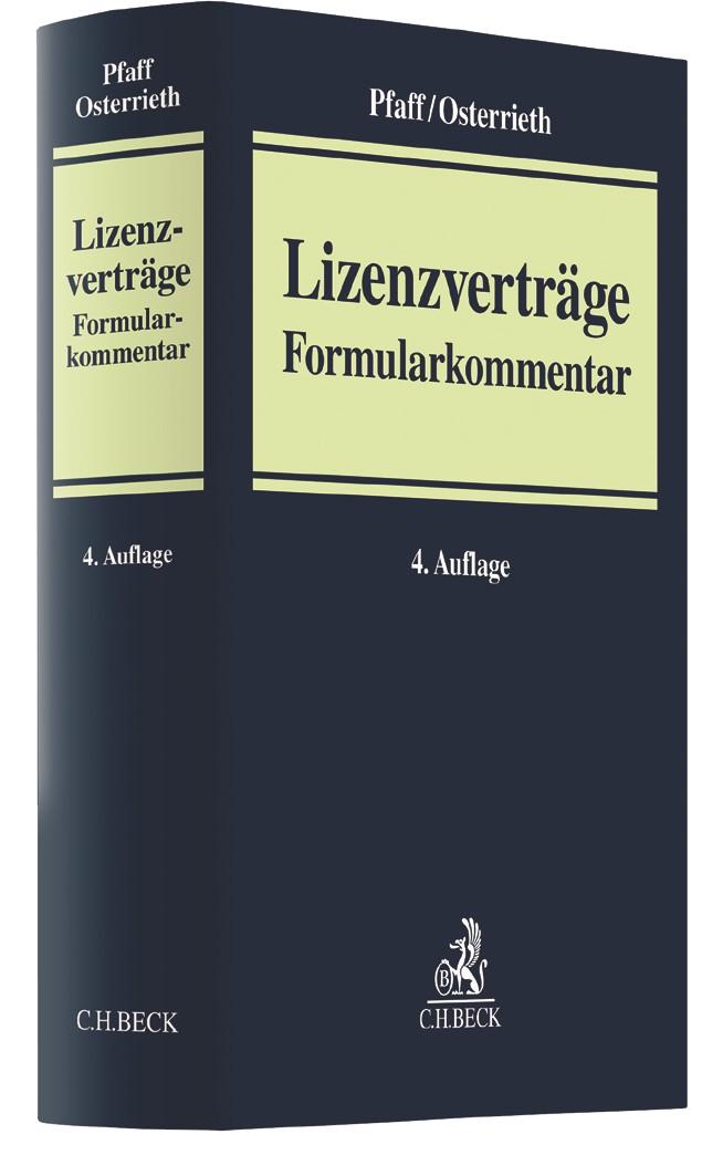 Lizenzverträge | Pfaff / Osterrieth | Buch (Cover)