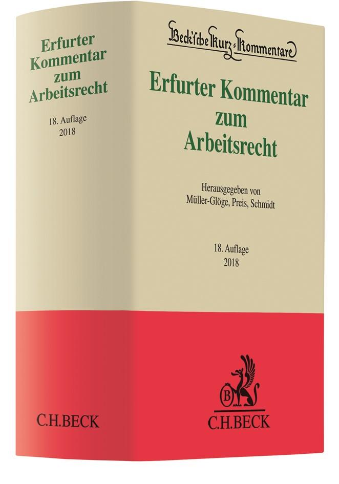 Erfurter Kommentar zum Arbeitsrecht | 18., neu bearbeitete Auflage, 2017 | Buch (Cover)