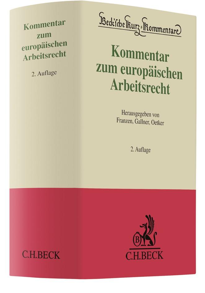Kommentar zum europäischen Arbeitsrecht | Franzen / Gallner / Oetker | Buch (Cover)