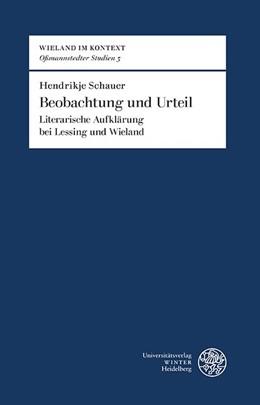 Abbildung von Schauer | Beobachtung und Urteil | 2019 | Literarische Aufklärung bei Le...
