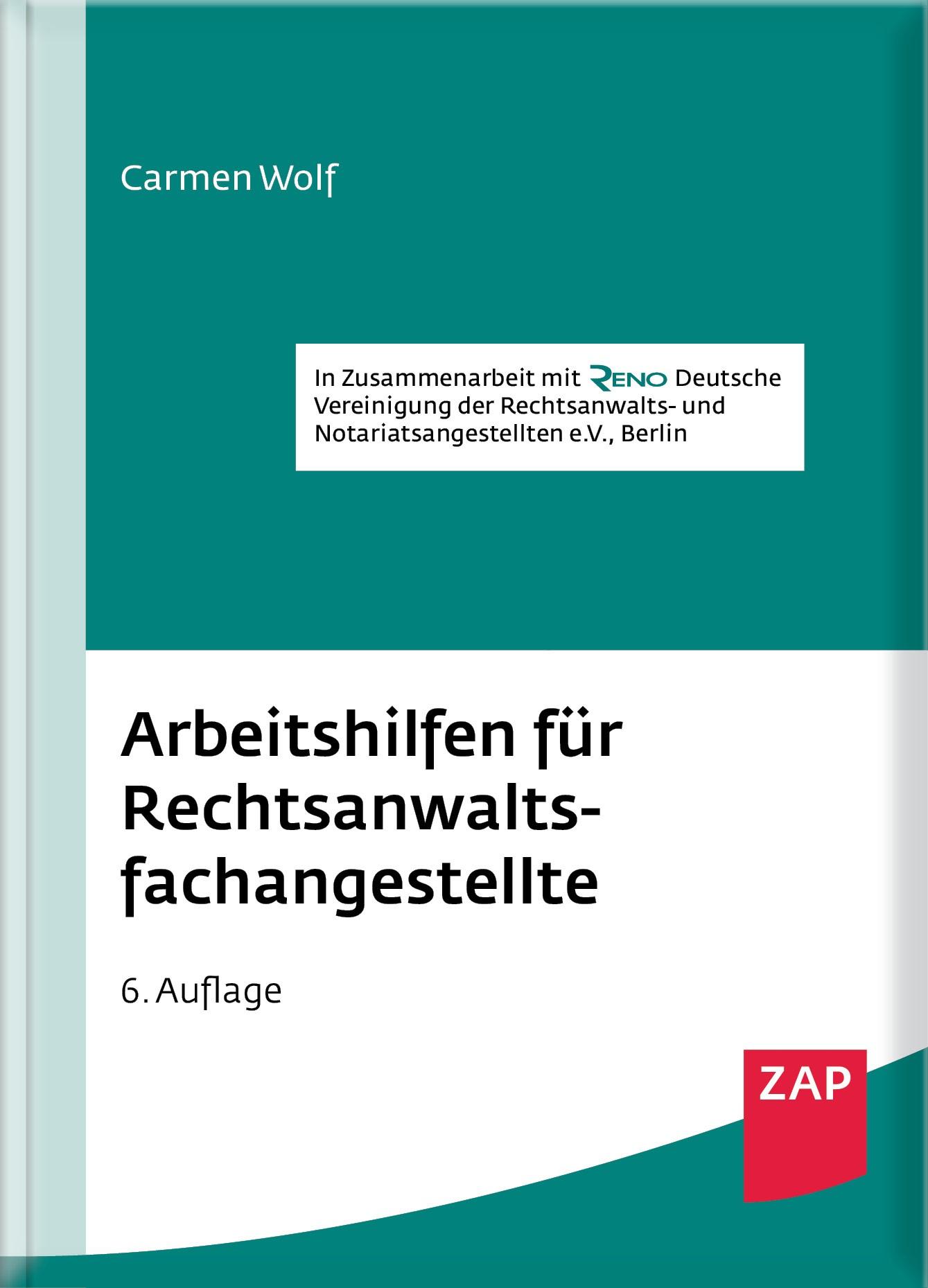 Arbeitshilfen für Rechtsanwaltsfachangestellte | Wolf | 6. Auflage, 2017 | Buch (Cover)