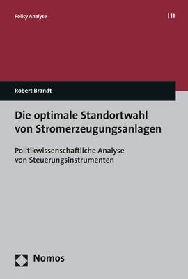 Die optimale Standortwahl von Stromerzeugungsanlagen | Brandt, 2017 | Buch (Cover)