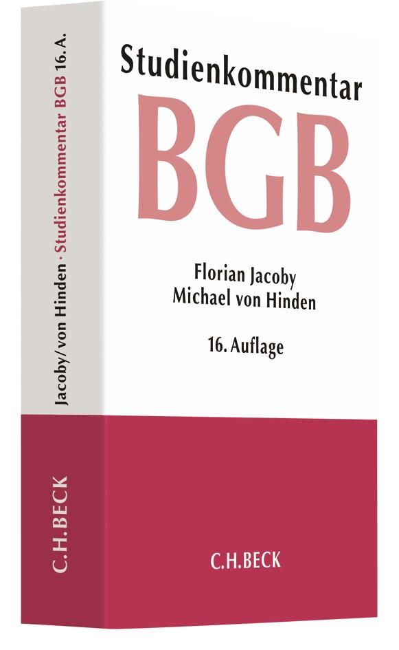 Bürgerliches Gesetzbuch: BGB | Jacoby / von Hinden | 16., neubearbeitete Auflage, 2018 | Buch (Cover)