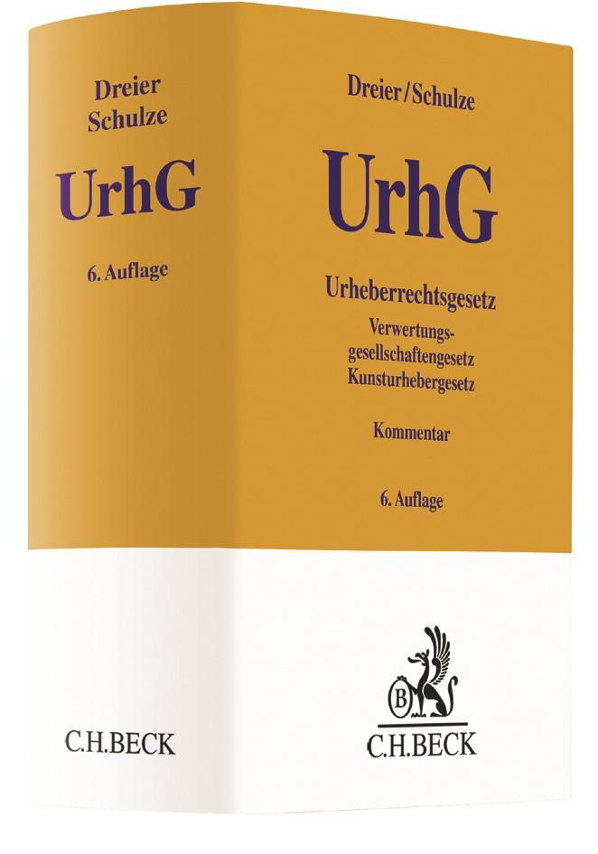Urheberrechtsgesetz: UrhG | Dreier / Schulze | 6. Auflage, 2018 | Buch (Cover)