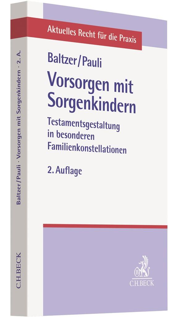 Vorsorgen mit Sorgenkindern | Baltzer / Reisnecker | 2. Auflage, 2019 | Buch (Cover)