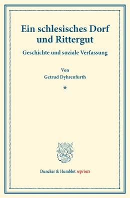 Abbildung von Dyhrenfurth | Ein schlesisches Dorf und Rittergut | 1. Auflage | 2017 | beck-shop.de