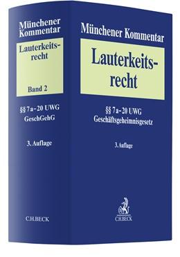 Abbildung von Münchener Kommentar zum Lauterkeitsrecht (UWG), Band 2: §§ 8-20 UWG | 3. Auflage | 2021