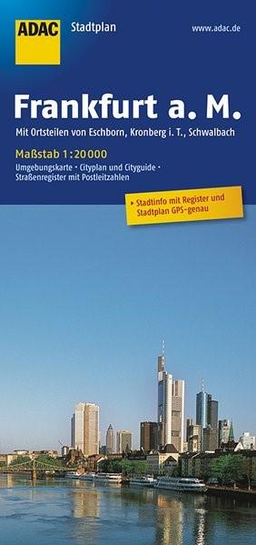 ADAC Stadtplan Frankfurt am Main 1 : 20 000 | 12. Auflage, 2017 (Cover)