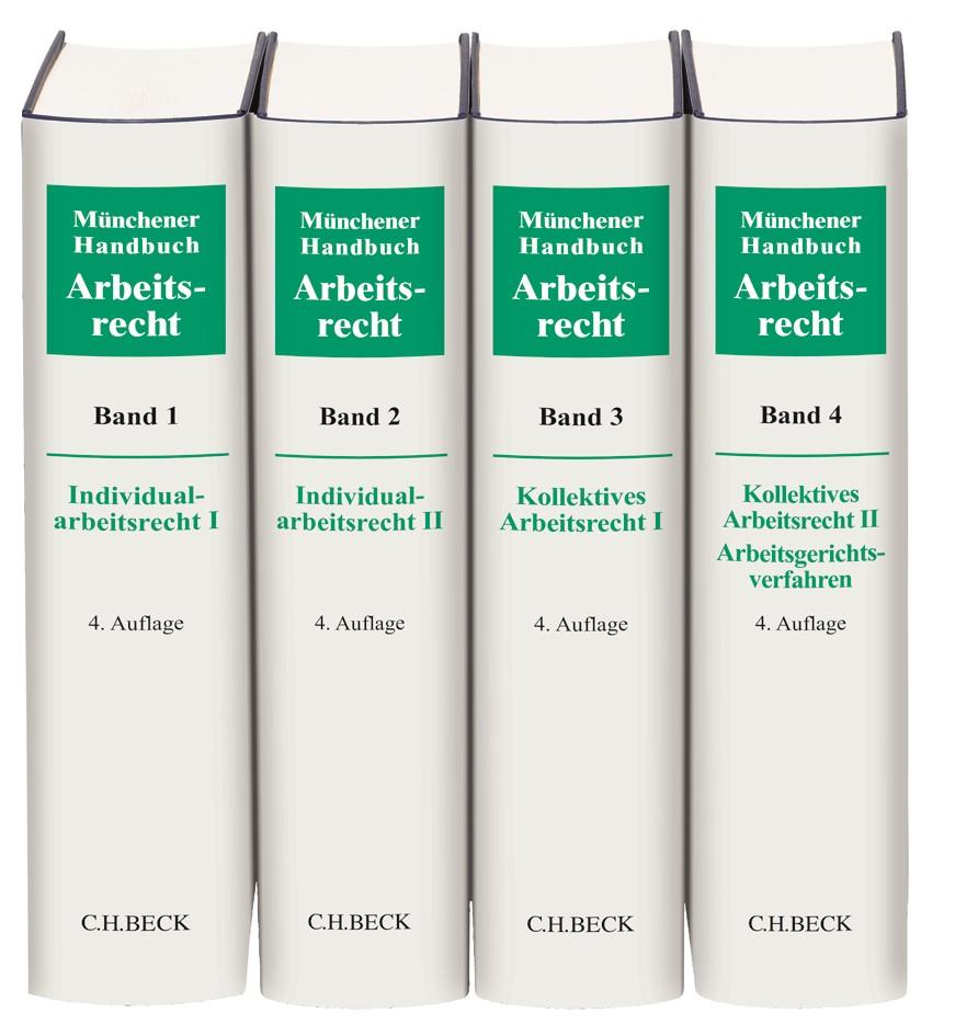 Münchener Handbuch zum Arbeitsrecht • Gesamtwerk in 4 Bänden | 4. Auflage, 2019 | Buch (Cover)