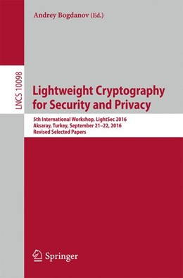 Abbildung von Bogdanov | Lightweight Cryptography for Security and Privacy | 1st ed. 2017 | 2017 | 5th International Workshop, Li...