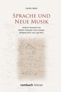 Abbildung von Abeln   Sprache und Neue Musik   2017