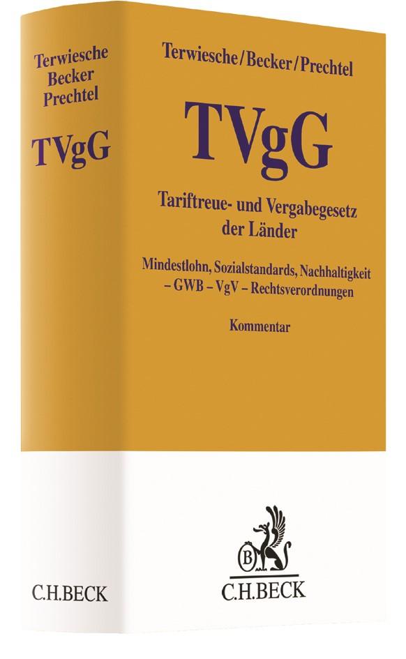 TVgG-Kommentar | Terwiesche / Becker / Prechtel | Buch (Cover)