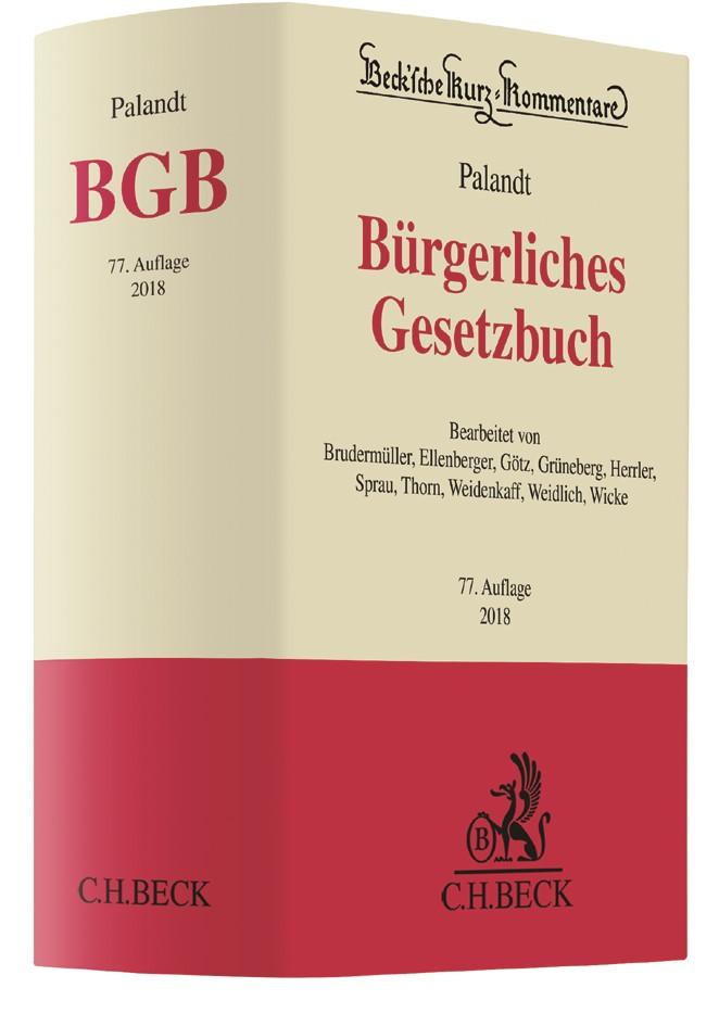 Bürgerliches Gesetzbuch: BGB | Palandt | 77. Auflage, 2017 | Buch (Cover)
