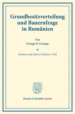 Abbildung von Creanga | Grundbesitzverteilung und Bauernfrage in Rumänien | 1. Auflage | 2017 | beck-shop.de