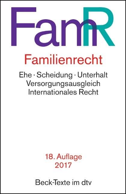 Familienrecht: FamR | 18. Auflage, 2017 | Buch (Cover)