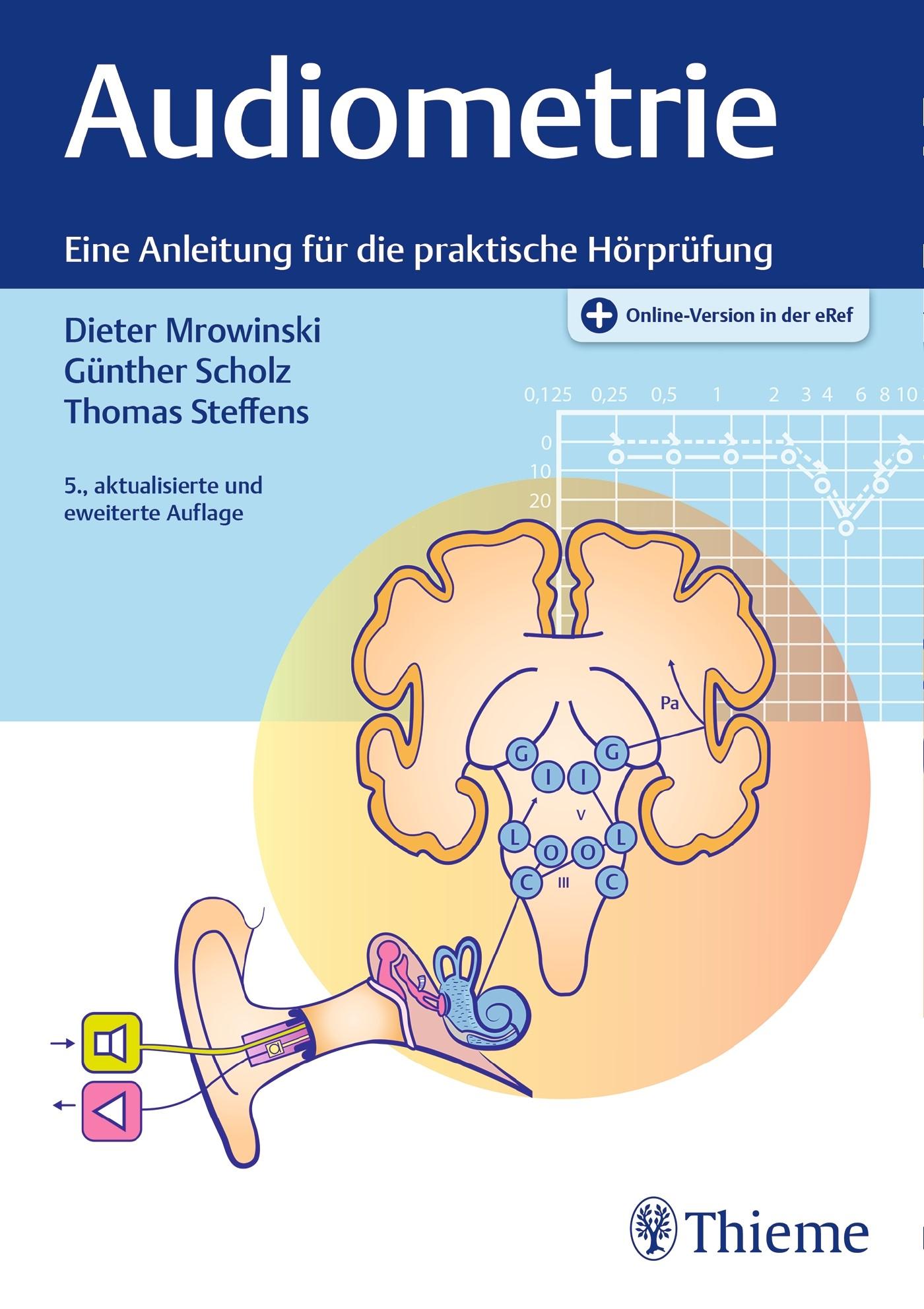 Audiometrie | Mrowinski / Scholz / Steffens | 5. aktualisierte und erweiterte Auflage, 2017 (Cover)