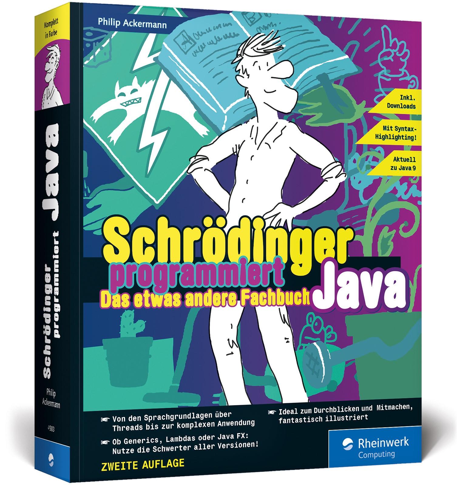 Schrödinger programmiert Java | Ackermann | 2. Auflage, 2017 | Buch (Cover)